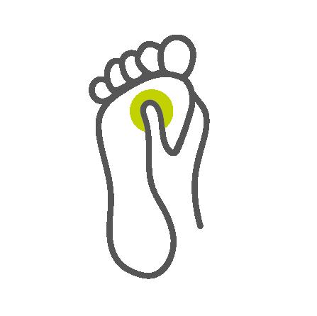 Logo ref.zone przedtawiające rękę masującą stopę