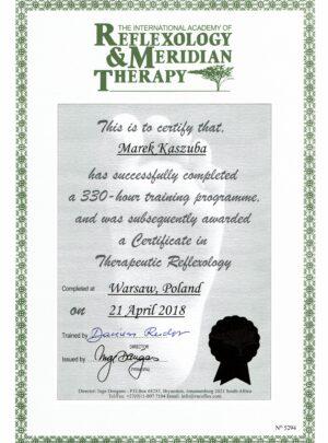 Certificate in Threapuetic Reflexology